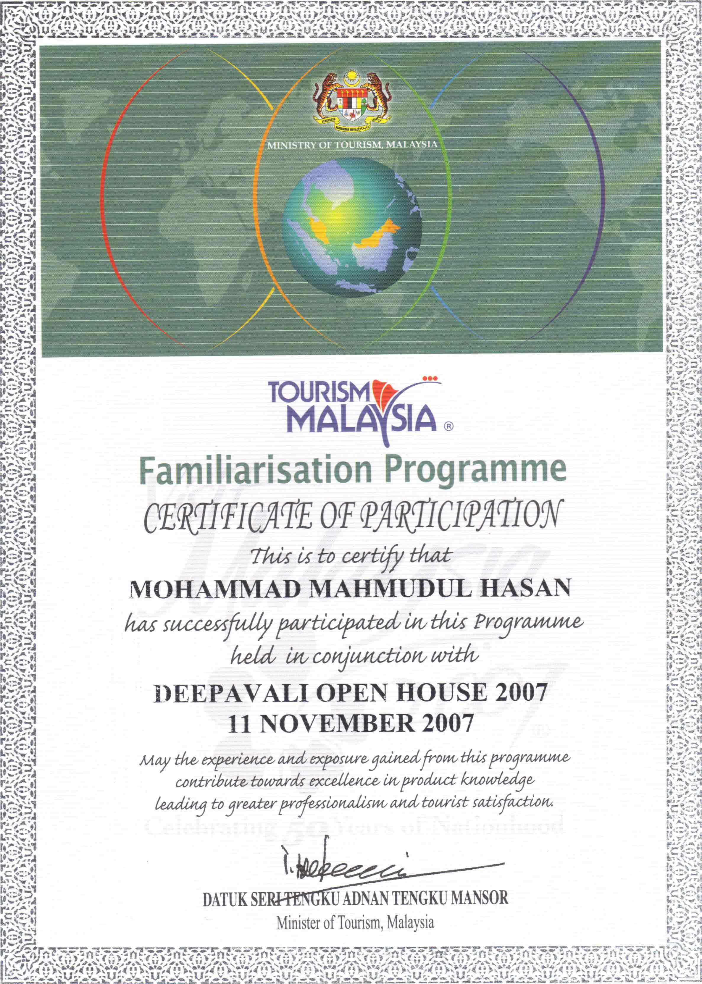 Tourism Malaysia Familiarization Program